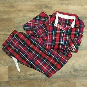 Victoria's Secret Plaid Flannel Pajamas Set